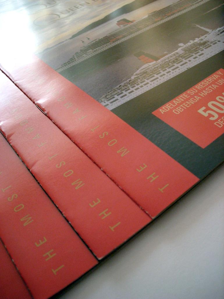 Cunard catálogo promocional cruceros Queen Mary Queen Elizabeth
